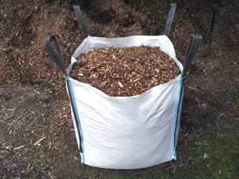 Woodchip mulch delivered in a bulk bag