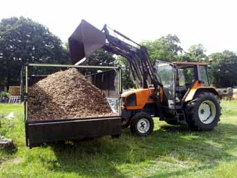 Transit tipper load of Woodchip  ready for delivery within 10 miles of Woking.